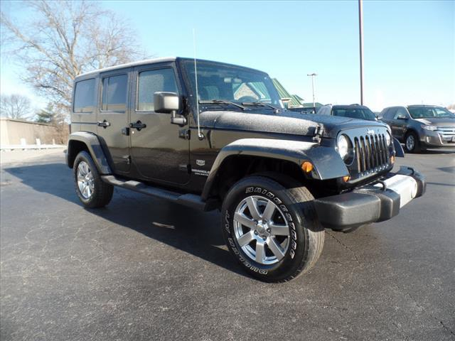 2011 JEEP WRANGLER UNLIMITED 70TH ANNIVERSARY 4X4 4DR SUV black roll stability controlhill ascen