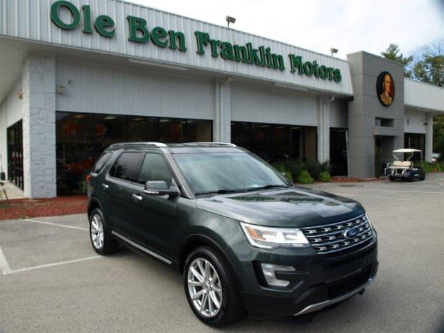 2016 FORD EXPLORER LIMITED 4DR SUV green only 3198 miles delivers 24 highway mpg and 17 city mp