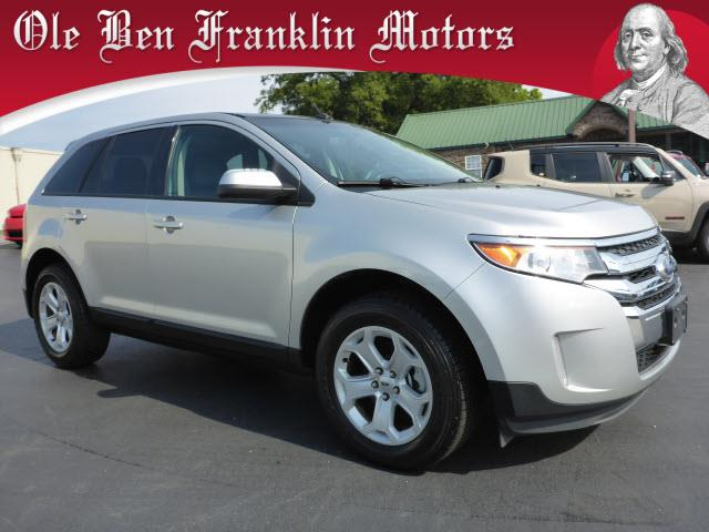2013 FORD EDGE SEL 4DR SUV silver steering wheel mounted controls voice recognition controlsstab