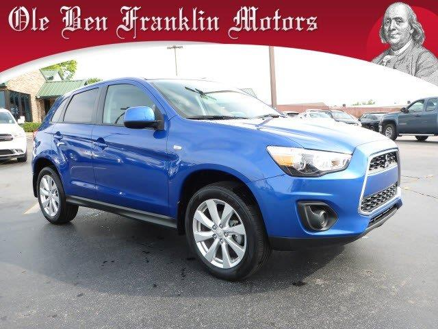 2015 MITSUBISHI OUTLANDER SPORT ES 4DR CROSSOVER 5M blue only 10863 miles this mitsubishi outla