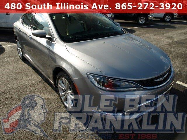 2015 CHRYSLER 200 LIMITED 4DR SEDAN billet silver metallic clearco scores 36 highway mpg and 23 c