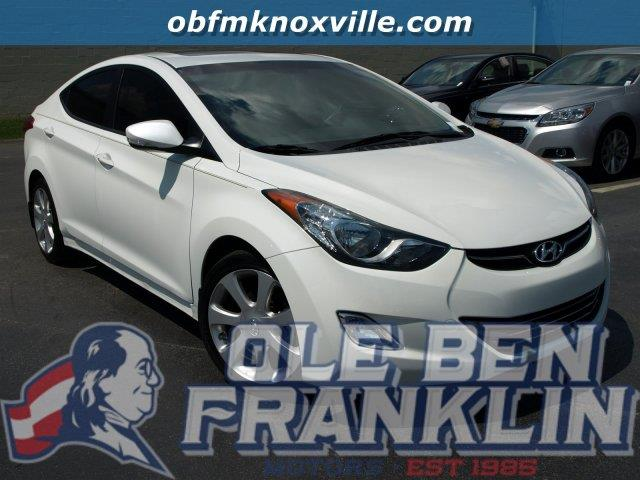 2013 HYUNDAI ELANTRA LIMITED 4DR SEDAN white only 24010 miles boasts 38 highway mpg and 28 city