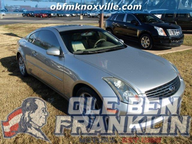 2003 INFINITI G35 BASE 2DR COUPE WLEATHER brilliant silver only 85925 miles boasts 26 highway