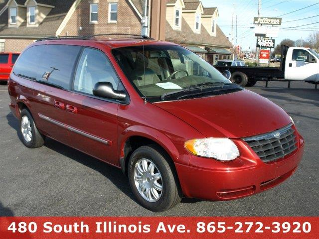 2006 CHRYSLER TOWN AND COUNTRY TOURING 4DR EXTENDED MINI VAN red only 100466 miles boasts 25 hi