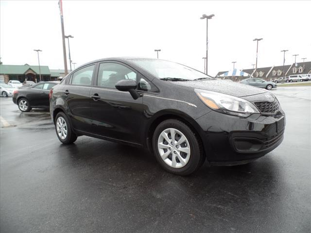 2015 KIA RIO LX 4DR SEDAN 6M black crumple zones front and rearstability control electronicdriv