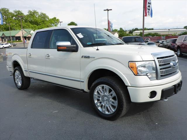 2009 FORD F-150 PLATINUM white navigationpower sunroofroll stability controlstability control