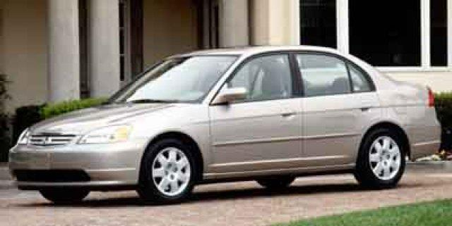 2002 HONDA CIVIC EX 4DR SEDAN satin silver metallic only 122342 miles delivers 38 highway mpg a