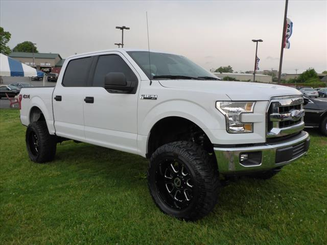 2015 FORD F-150 XLT white impact sensor post-collision safety systemroll stability controlmulti