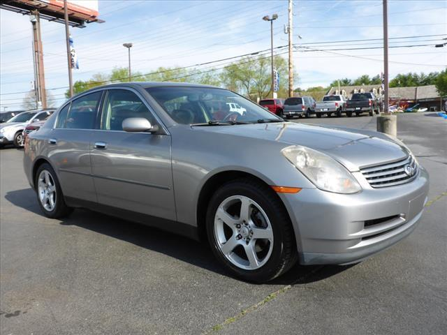 2004 INFINITI G35 BASE RWD 4DR SEDAN WLEATHER gray security anti-theft alarm systemstability co
