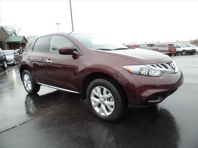 2014 NISSAN MURANO S 4DR SUV dk red crumple zones front and rearmulti-function displaystabilit