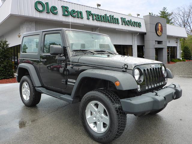 2014 JEEP WRANGLER SPORT 4X4 2DR SUV black jeep  black 2 door hard to find available lifet