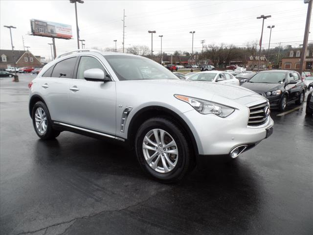 2014 INFINITI QX70 BASE AWD 4DR SUV 37L V6 silver crumple zones front and rearsecurity anti-t