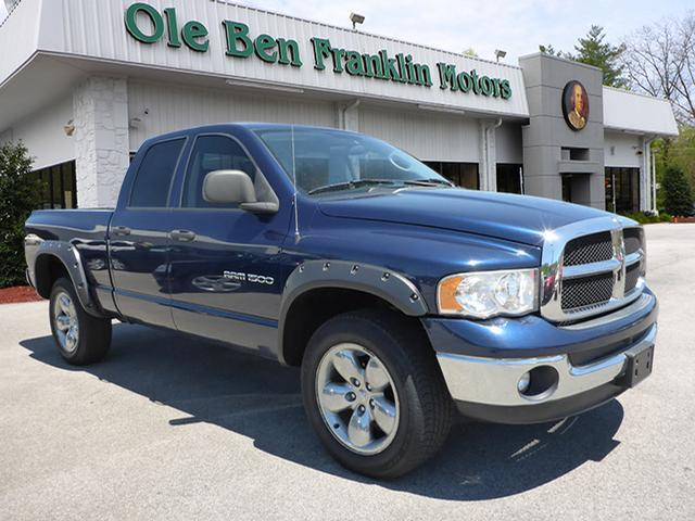 2005 DODGE RAM PICKUP 1500 SLT blue airbags - front - dualair conditioning - front - single zone