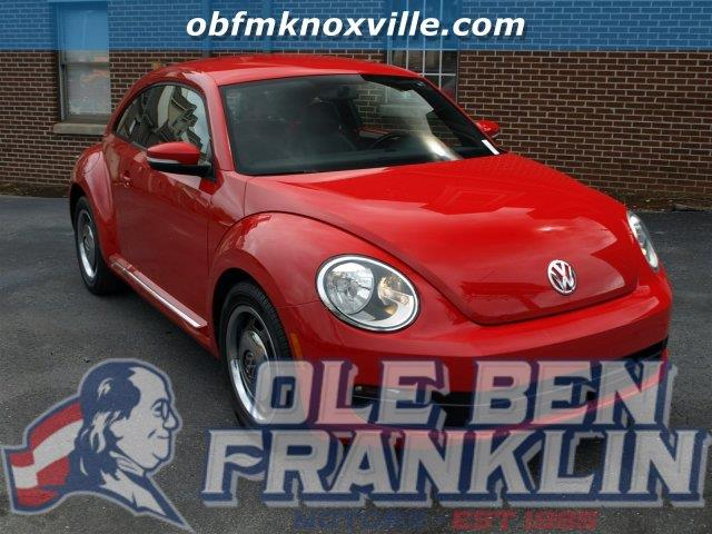 2012 VOLKSWAGEN BEETLE 25L PZEV tornado red only 45326 miles delivers 31 highway mpg and 22 ci