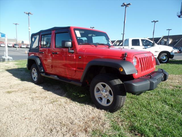 2015 JEEP WRANGLER UNLIMITED SPORT 4X4 4DR SUV red impact sensor post-collision safety systemcru