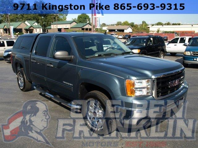 2010 GMC SIERRA 1500 SL 4X2 4DR CREW CAB 58 FT SB blue scores 19 highway mpg and 14 city mpg t