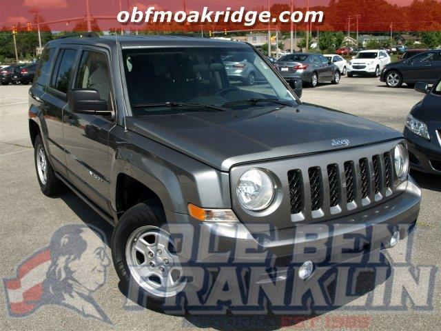 2012 JEEP PATRIOT SPORT 4X4 4DR SUV black scores 28 highway mpg and 22 city mpg this jeep patrio
