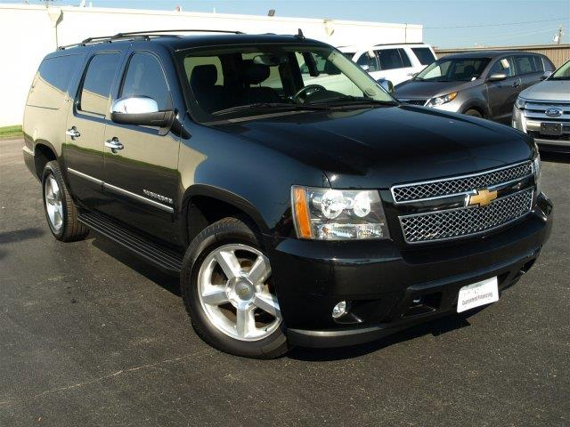 2014 CHEVROLET SUBURBAN LTZ 1500 4X4 4DR SUV black scores 21 highway mpg and 15 city mpg this ch