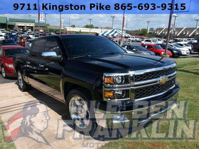 2014 CHEVROLET SILVERADO 1500 LTZ W LEATHER MYLINK black scores 23 highway mpg and 16 city mpg
