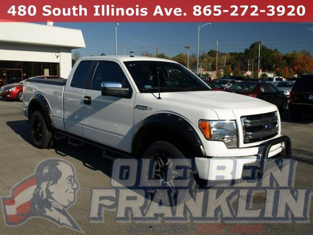 2014 FORD F-150 STX EXT CAB W CUSTOM BULL BAR oxford white only 10351 miles boasts 23 highway