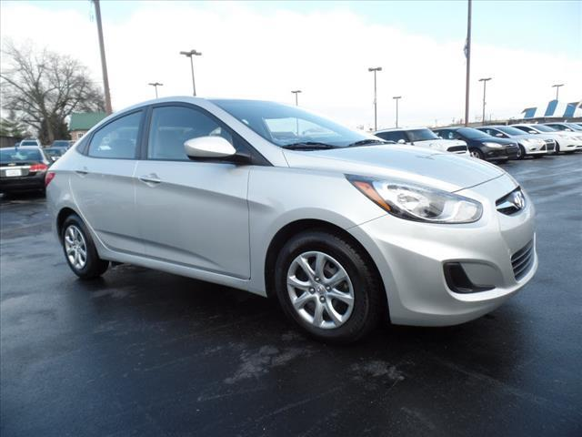 2014 HYUNDAI ACCENT GLS 4DR SEDAN 6A silver stability control electroniccrumple zones front and