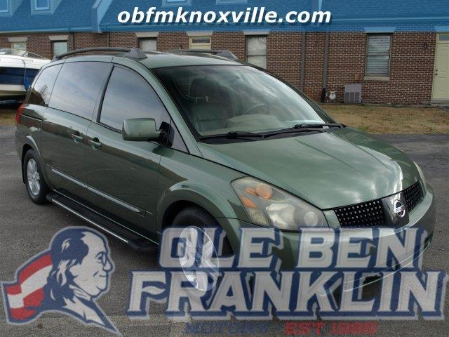 2004 NISSAN QUEST S green only 114787 miles scores 26 highway mpg and 19 city mpg this nissan