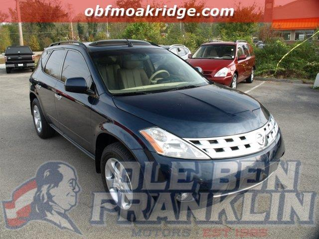 2004 NISSAN MURANO SL 4DR SUV blue scores 25 highway mpg and 20 city mpg this nissan murano boas