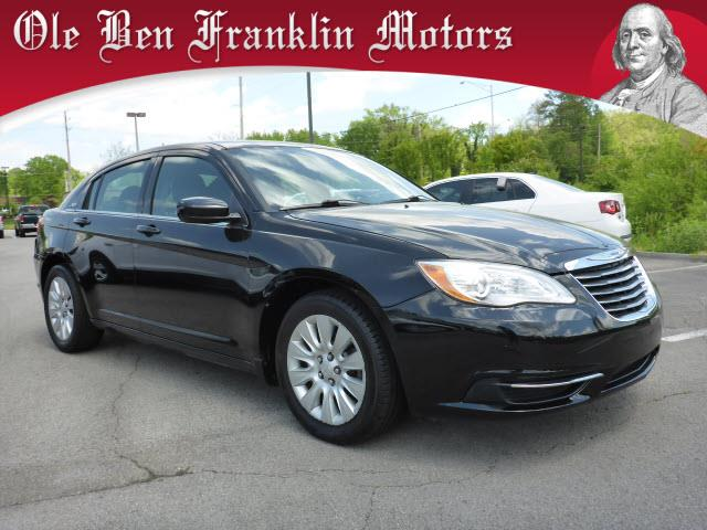 2013 CHRYSLER 200 LX 4DR SEDAN black impact sensor post-collision safety systemsecurity remote a