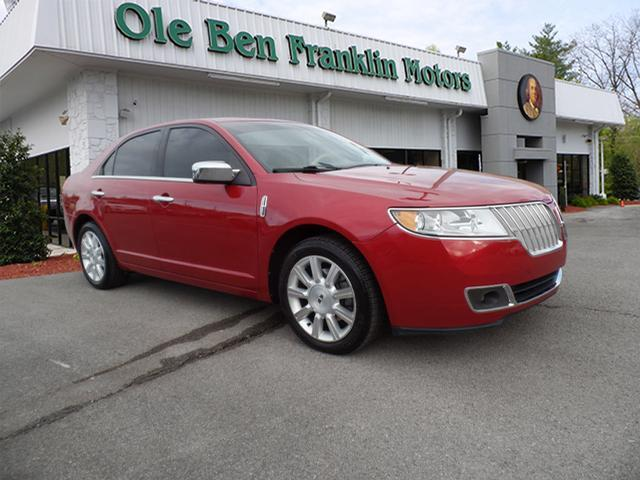 2012 LINCOLN MKZ BASE 4DR SEDAN red red tan leather alloy wheels  lots ofcurb appealm
