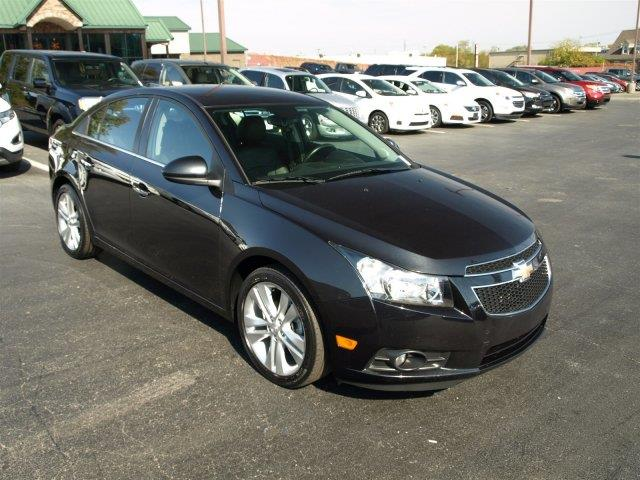 2014 CHEVROLET CRUZE LTZ AUTO 4DR SEDAN W1SJ black granite metallic boasts 38 highway mpg and 26