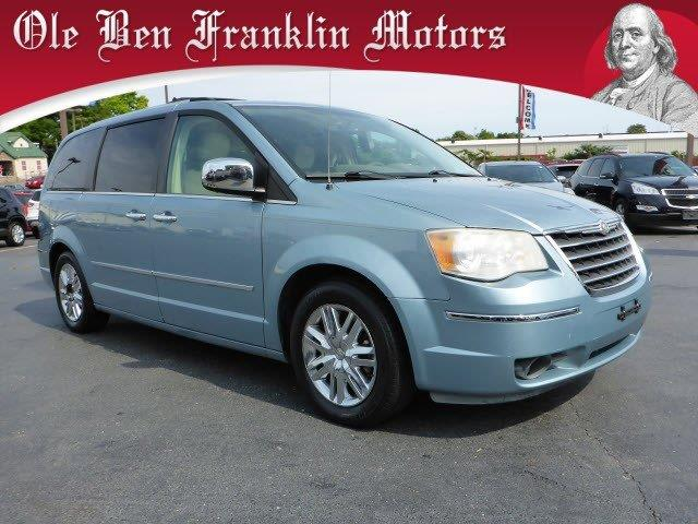 2008 CHRYSLER TOWN AND COUNTRY LIMITED 4DR MINI VAN lt blue parking sensors rearmemorized setti