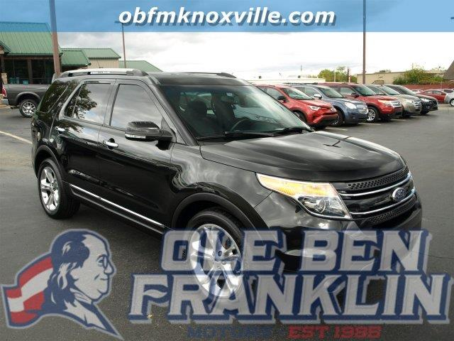 2014 FORD EXPLORER LIMITED 4DR SUV tuxedo black metallic only 9 miles scores 24 highway mpg and