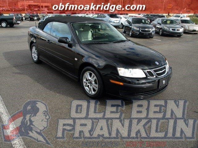 2007 SAAB 9-3 20T 2DR CONVERTIBLE black only 70995 miles delivers 30 highway mpg and 20 city m