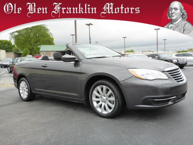 2014 CHRYSLER 200 CONVERTIBLE TOURING 2DR CONVERTIBLE gray impact sensor post-collision safety sy