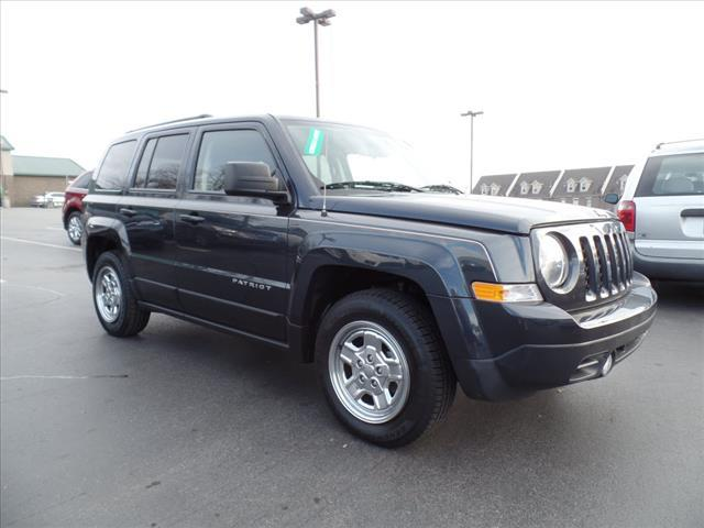 2014 JEEP PATRIOT SPORT 4DR SUV gray impact sensor post-collision safety systemcrumple zones fro
