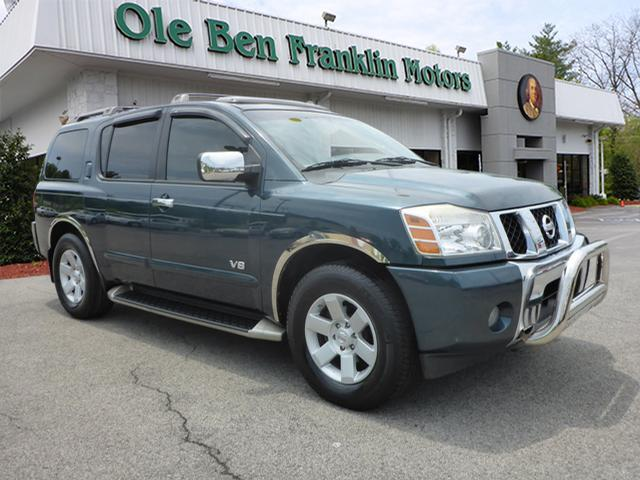 2005 NISSAN ARMADA LE 4WD 4DR SUV dk green parking sensors rearsecurity anti-theft alarm system