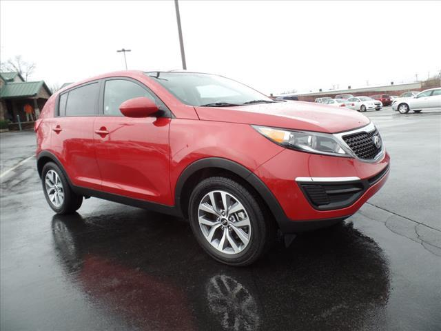 2015 KIA SPORTAGE LX 4DR SUV dk red alloy wheelsbrite red  gas saver bluetooth and much m