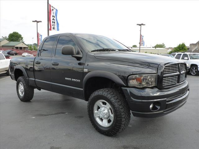 2003 DODGE RAM PICKUP 2500 SLT black abs brakes 4-wheelair conditioning - frontairbags - fron