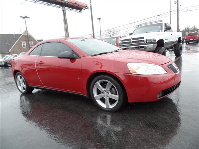 2007 PONTIAC G6 GT 2DR CONVERTIBLE dk red abs brakes 4-wheelair conditioning - frontair cond