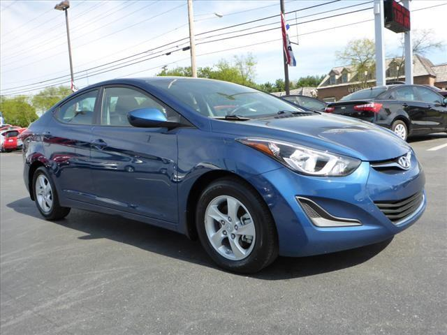 2014 HYUNDAI ELANTRA SE 4DR SEDAN 6A blue crumple zones frontcrumple zones rearsecurity remote