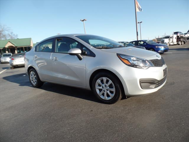2013 KIA RIO LX 4DR SEDAN 6A silver crumple zones front and rearstability control electronicabs