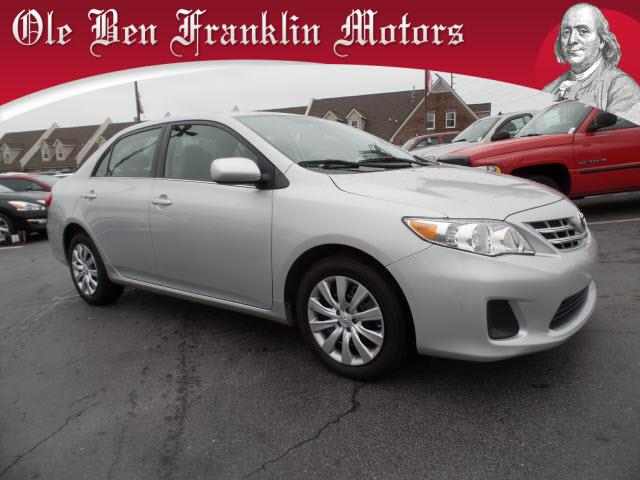 2013 TOYOTA COROLLA LE 4DR SEDAN 4A silver crumple zones front and rearsecurity anti-theft alarm