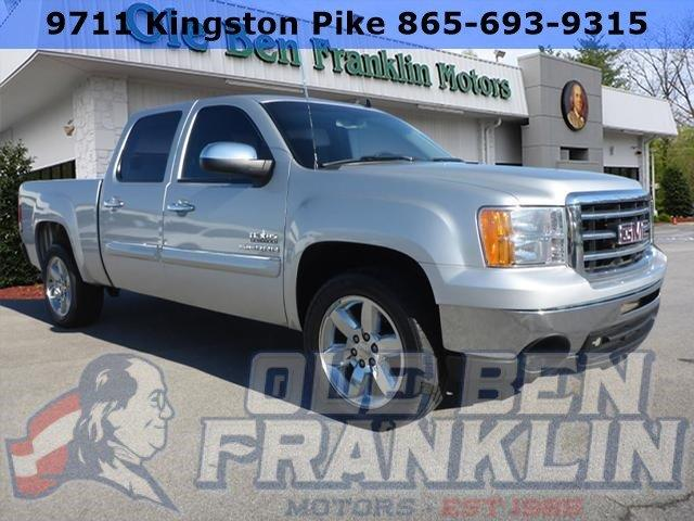 2013 GMC SIERRA 1500 SLE 4X2 4DR CREW CAB 58 FT SB silver delivers 21 highway mpg and 15 city m