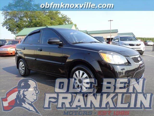2011 KIA RIO BASE 4DR SEDAN black crumple zones front and rearabs brakes 4-wheelairbags - fro