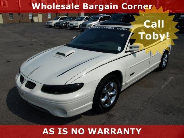 2002 PONTIAC GRAND PRIX GTP 4DR SUPERCHARGED SEDAN ivory white only 117544 miles delivers 28 hi