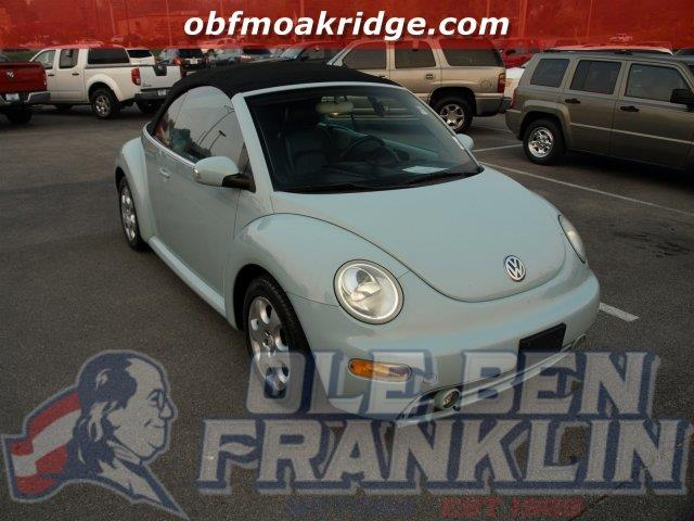 2003 VOLKSWAGEN NEW BEETLE GLS 2DR CONVERTIBLE blue only 54407 miles scores 29 highway mpg and