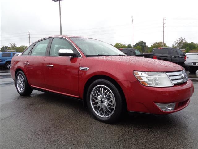 2009 FORD TAURUS LIMITED 4DR SEDAN sangria red clearcoa parking sensors rearmemorized settings i