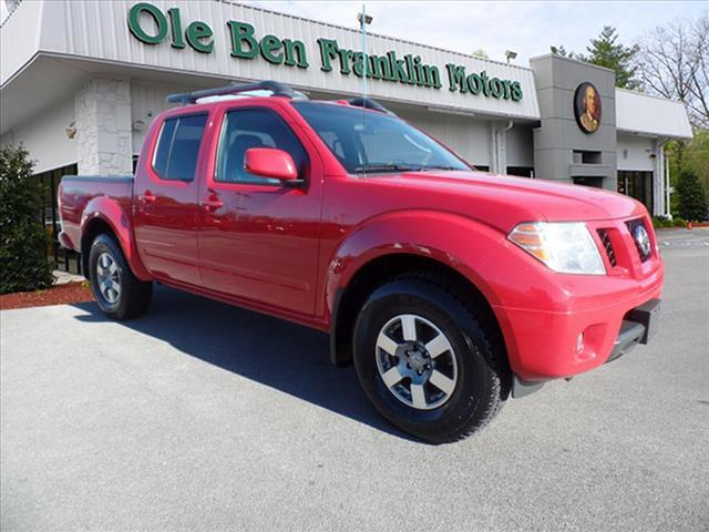 2011 NISSAN FRONTIER PRO-4X 4X4 4DR CREW CAB SWB PICK red off-road suspension packagecrumple zon