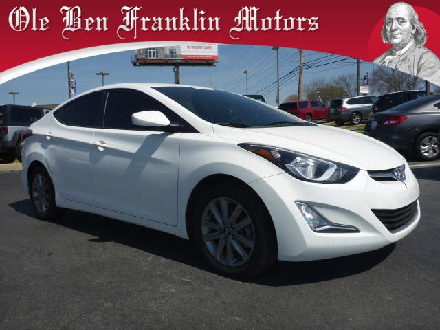2014 HYUNDAI ELANTRA SE 4DR SEDAN 6A US white crumple zones frontcrumple zones rearsecurity r