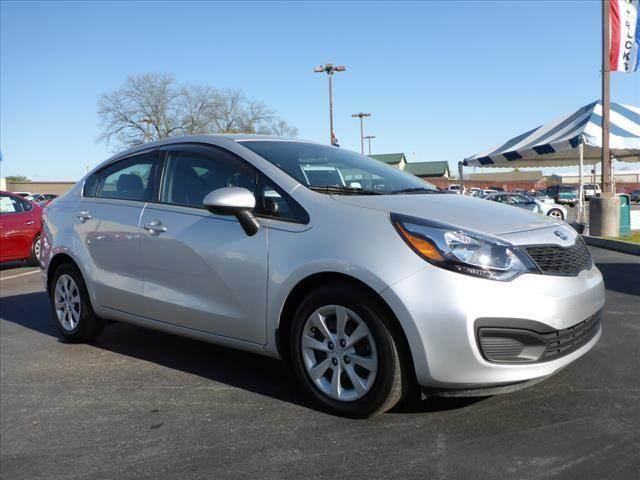 2014 KIA RIO LX 4DR SEDAN 6A silver crumple zones front and rearstability control electronicabs
